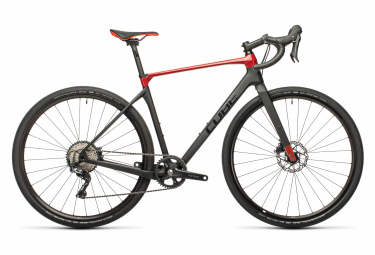 Cube Nuroad C:62 Pro Gravel Bike Shimano GRX 11S 700 mm Carbon Grey Red 2021