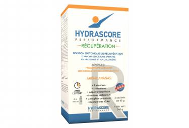 Boisson de Récupération Hydrascore Récupération Ananas 6 x 40g