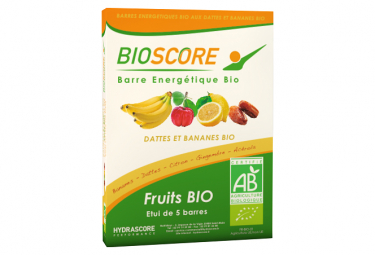 5 Barres Énergétiques Hydrascore Bioscore Banane 100 % Bio 5 x 25 g
