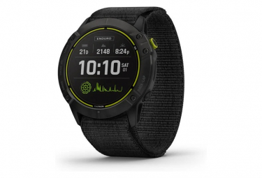 Garmin Enduro Titanium GPS Watch Carbon Grey DLC with UltraFit Nylon Strap Black