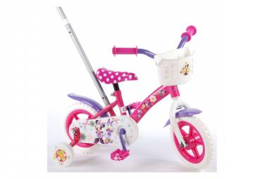 Image of Velo pour enfants disney minnie bow tique filles 10 pouces rose blanc violet