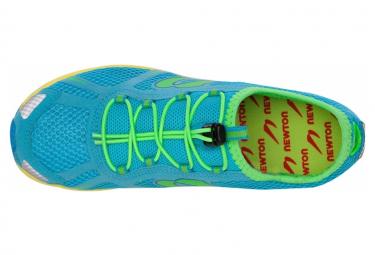 Chaussures Femme Newton Running Tri Racer 2015 Women Deep Sky Blue - Lime