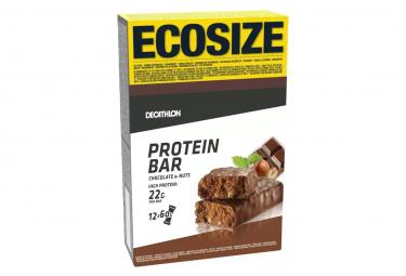 12 Barres Protéinées Domyos Protein 22g Chocolat Noisettes 60g