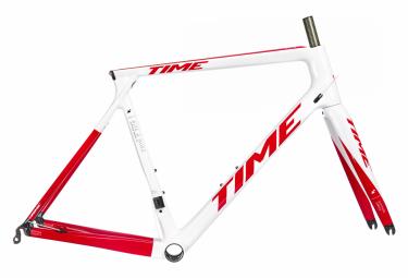 Kit Cadre / Fourche Time Alpe D'Huez 01 Blanc Racing Rouge