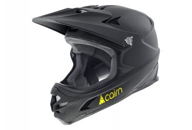 Casco Integral Cairn X Track Loc Mat Negro   Amarillo Fluo L  58 60 Cm