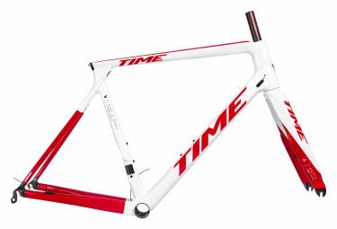 Kit Cadre / Fourche Time Alpe D'Huez 01 AKTIV Blanc Racing Rouge