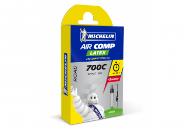 Michelin A1 AirComp Latex Road Bike Tube 700x18c - 700x20c Presta 36 mm