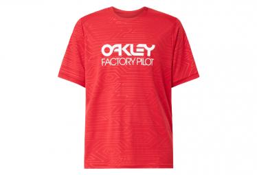 Maillot Oakley Pipeline Trail Manga Corta Rojo M