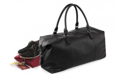 Quadra - Sac de voyage en faux cuir (Lot de 2) (Noir) - UTBC4433