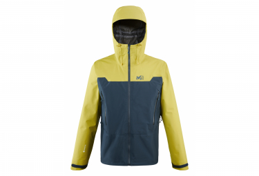 Veste Imperméable Millet Kamet Light GJM Bleu /Jaune
