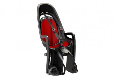 Asiento de bicicleta infantil hamax zenith montado en portaequipajes gris rojo