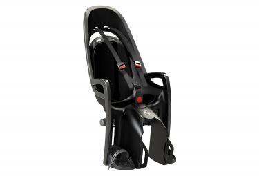 Asiento de bicicleta infantil hamax zenith montado en portaequipajes gris negro