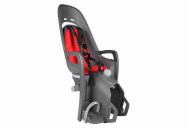 Asiento infantil para bicicleta montado en portaequipajes reclinable zenith relax de hamax gris rojo