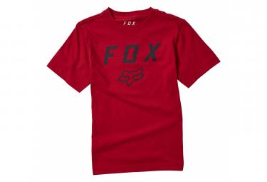 Camiseta De Manga Corta Para Ninos Fox Legacy Moth Roja Kid L