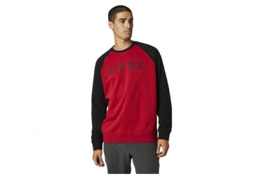 Sudadera Fox Apex Crew Fleece Negro   Rojo M