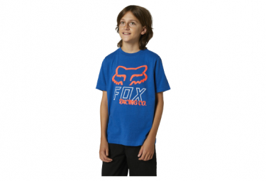 Camiseta De Manga Corta Para Ninos Fox Hightail Azul Kid L