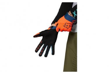 Gants Fox Defend Orange