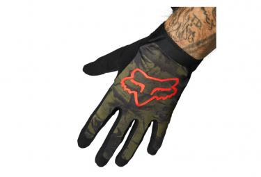 Par de guantes largos Fox Flexair Ascent verde / rojo