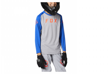 Maillot Fox Defend Kids Manga Larga Gris Kid Xl