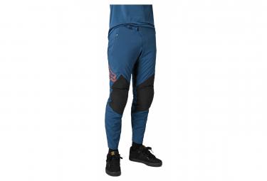 Pantalones Fox Defend Azul Oscuro   Rojo 36