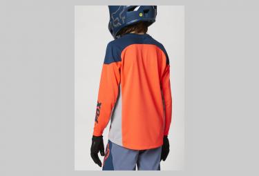 Maillot Manches Longues Enfant Fox Defend Graphic 2 Orange