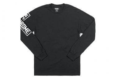 T-shirt Manches Longues Chrome Flying Lion Noir