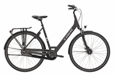 Bicicleta Ciudad Mujer Trek District 1 Equiped Lowstep  Noir / Argent