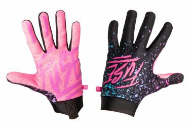 Paar Sicherung Omega Turbo Handschuhe Pink / Schwarz