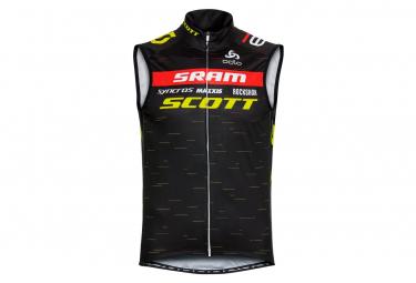 Chaqueta Odlo Scott Sram Racing Negro Amarillo Xl