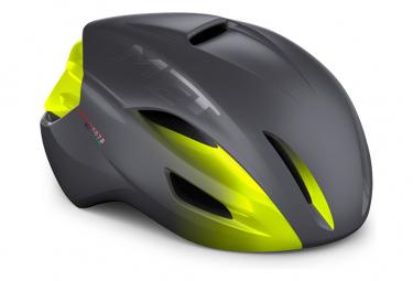 MET Manta Mips Aero Helm Neongelb / Matt glänzend grau 2021