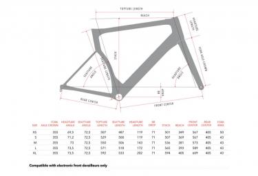 Kit Cadre/Fourche 3T Strada Due Disc Team Gris