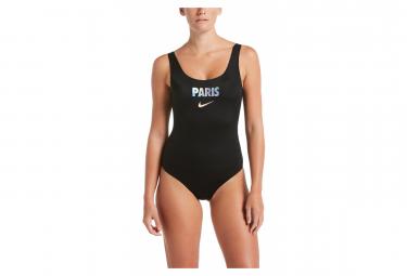 Maillot de Bain 1-Pièce Femme Nike Swim City Series Paris Noir