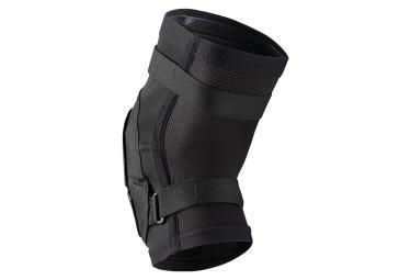 IXS Hack Race Short Knee Guards Black