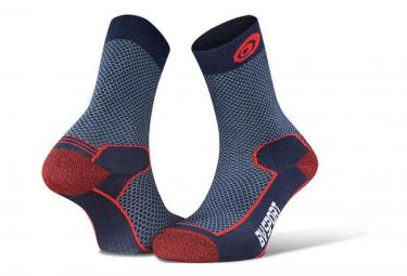 Paire de Chaussettes BV Sport Double Polyamide Evo Bleu Rouge