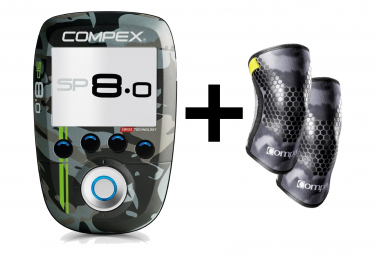 Electro Stimulator Compex SP 8.0 Wod Edition + Knee Pads Size M