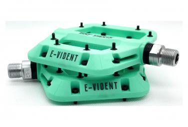 Paire de Pédales Plates BST Parts E-Vident Turquoise