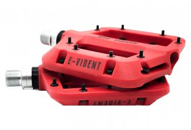 Paire de Pédales Plates BST Parts E-Vident Rouge