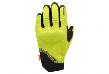 Gants Longs Racer Gloves Rock 3 Noir / Lime