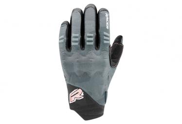 Guantes Racer Gloves Rock 3 Mujer Guantes Largos Negro   Rosa Xs