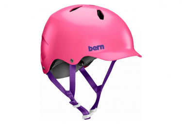 Casco Infantil Bern Bandito Saten   Rosa 54 57 Cm