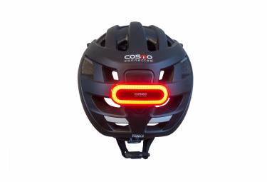 Casque Cosmo Road Noir + Eclairage Arrière Connecté