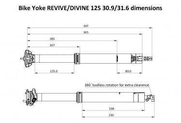 Bike Yoke Divine Teleskop Sattelstütze (ohne Kontrolle)