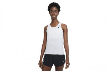 Camiseta Sin Mangas Blanca Nike Aeroswift Para Mujer Xs