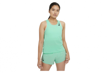 Camiseta Sin Mangas Nike Aeroswift Verde Mujer Xs