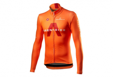 Maillot Manches Longues Castelli Thermal Ineos Grenadier Orange