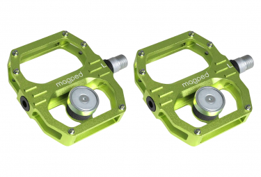 Pair of Magped Sport 2 200N Magnetic Pedals Green