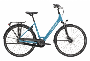 Bicicleta Ciudad Mujer Trek District 1 Equiped Lowstep  Bleu