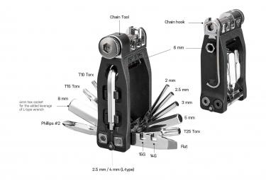 Topeak Ninja 16+ Multi-Tool Black / Silver (16 Functions)