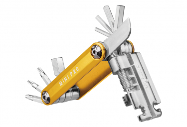 Topeak Mini P20 Multi Tools Gold  20 Funciones