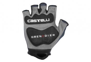 Gants Courts Castelli Track Mitts Team Ineos Grenadier Bleu